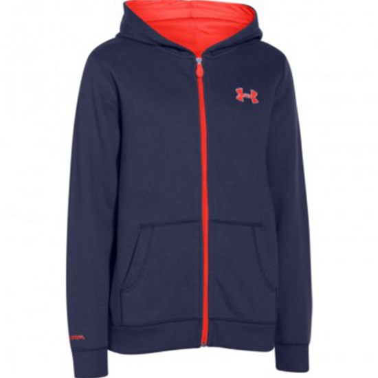 Under Armour Huppari, Storm full zip hoody, Pirate Blue