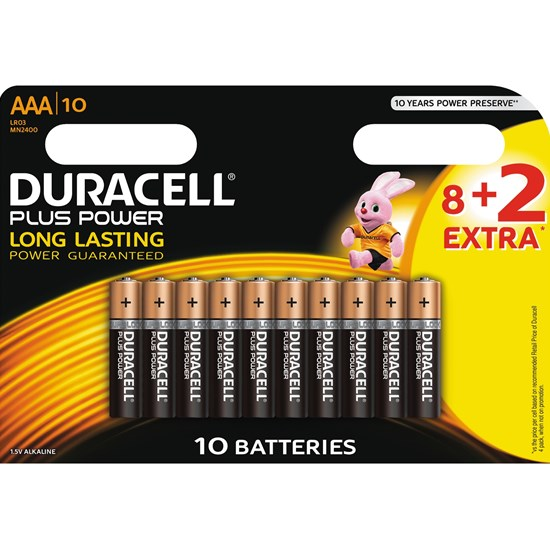Duracell Duracell Plus Power AAA 8+2 kpl