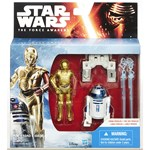 Star Wars E7, Class I Vehicles, 9 cm, R2D2 C3P0