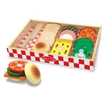 Melissa & Doug Leikkiruokaa, Wooden Sandwich Making Set