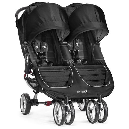 Babyjogger Rattaat, City Mini Double, Black/Grey