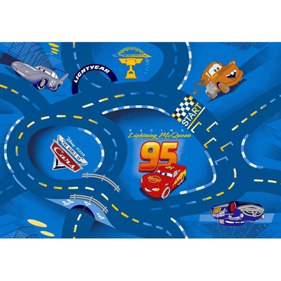 Associated Weaver Disney Pixar Cars, Matto, 95 x 133 cm, World of Cars, Sininen