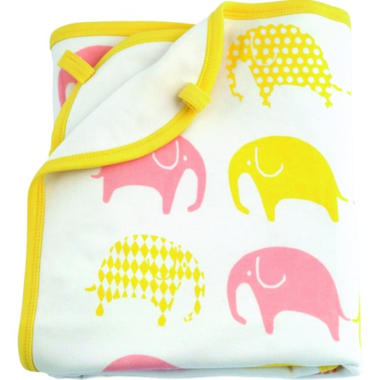 Littlephant Blanket White/Yellow/Pink