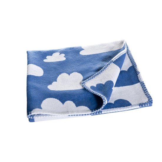Färg & Form Clouds Blanket Blue