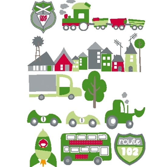 Kids Concept Wall Decoration Car Green