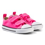 Converse Pink and White Infants Chuck Taylor All Star 2V - OX