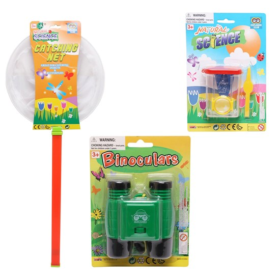 Oliver & Kids Nature Science, Binocular, Bug Case and Cathing net