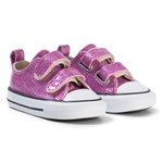 Converse Pink Glitter Rubber Chuck Taylor All Star 2V OX Infants Trainers