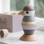 sebra Wooden stacking bird midnight plum