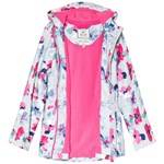 Joules Pink Floral and Blue Stripe Rubber Raincoat