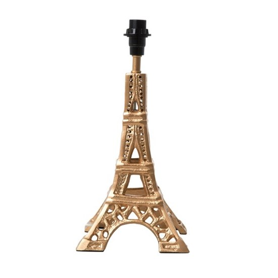 Rice Small Metal Eiffel Tower Table Lamp in Gold