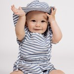 ebbe Kids Festis Solhatt Navy Stripes