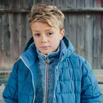 ebbe Kids Kalla Fleece Jacka Washed Navy
