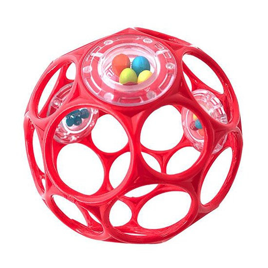 Oball Rattle, Red