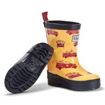 Hatley Yellow and Red Vintage Fire Trucks Rain Boots