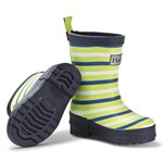 Hatley Navy and Lime Stripes Rain Boots