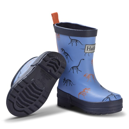 Hatley Blue Silhouette Dinos Rain Boots