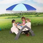 Axi Delta Sand- & Water Picnic Table including parasol