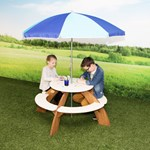 Axi Orion Picnic Table including parasol
