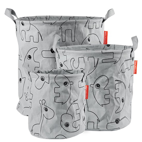 Done by Deer Storage baskets, Contour, 3 pcs, grey