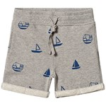 One We Like Shorts Boats Grey Melange