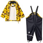 Celavi Rainwear w/o lining w. printed jacket Yellow