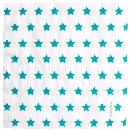My Little Day 20 Paper Napkins - Blue Stars