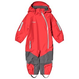 93e59fe4 Bergans Lilletind Kids Coverall Fire Red Solid Dk Grey SolidLightgrey