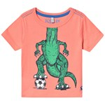 Joules Orange Football Dino Tee