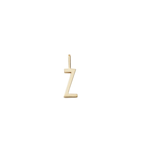 Design Letters 10 mm 18K Gold Plated Silver - Z