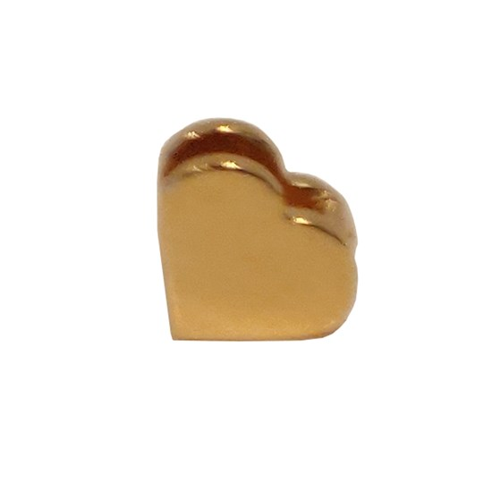 Design Letters Heart 18K Gold Plated Silver