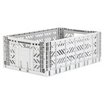 Aykasa Maxi folding crate light grey