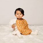 Buddy & Hope Bib 2-p Yellow w Dots