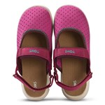 Toms Pink Nylon Perforated Velcro Sandals