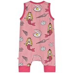 Småfolk Pink Mermaid Footless Babygrow