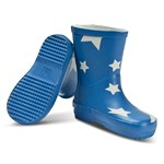 Ticket To Heaven PU Rain Boots Allover Princess Blue