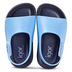 Igor Blue and Navy Baby Bicolour Rubber Sandals