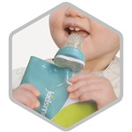 Kidsme Reuseable Food Pouch 4-p 180ml White Blue