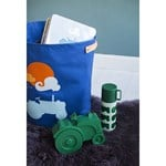 Blafre Canvas Basket, Tractor, large Navy