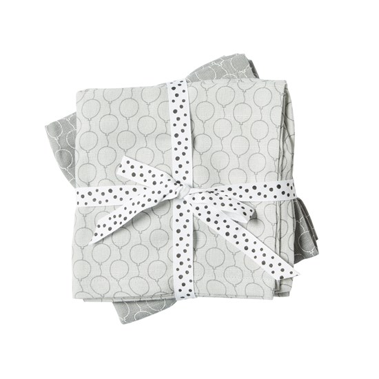 Done by Deer Burp Cloth, 2-pack, Balloon, Grey
