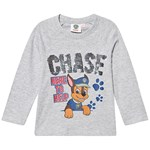 Paw Patrol Paw Patrol LS T-Shirt With Reversible Sequins Grey Melange