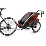 Thule Chariot Cross 2 Double Multisport and Bikestroller Roarange
