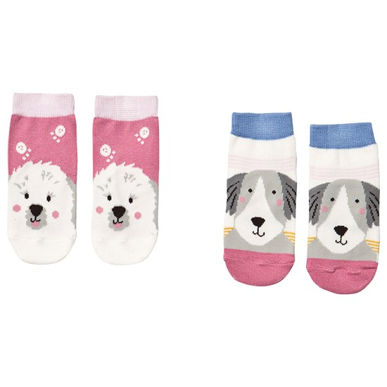 Joules Pack of 2 Multi Dogs Character Neat Feet Infants Socks