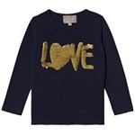 Creamie T-Shirt Sequin LS Total Eclipse