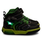 Geox Navy Inek Flame Light Up High Top Trainers