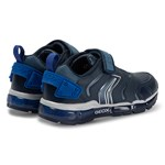 Geox Navy Android Light Up Velcro Trainers
