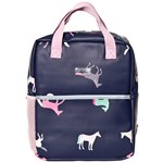 Joules Navy Horses Adventure Mini Rubber Backpack