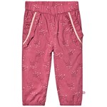 Minymo Pants With Flower Print Rose Wine