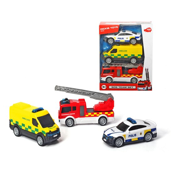 Dickie Toys SOS Team, Set with 3 vechicles