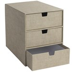 Bigso Box of Sweden Ingrid 3 Drawer Chest Canvas Beige